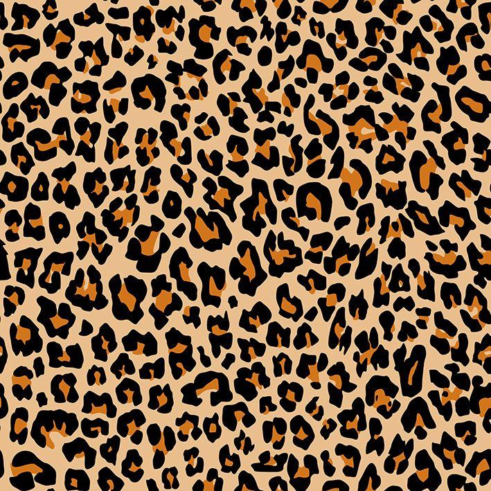 baskılı fon perde turuncu ve siyah renkli leopar desenli