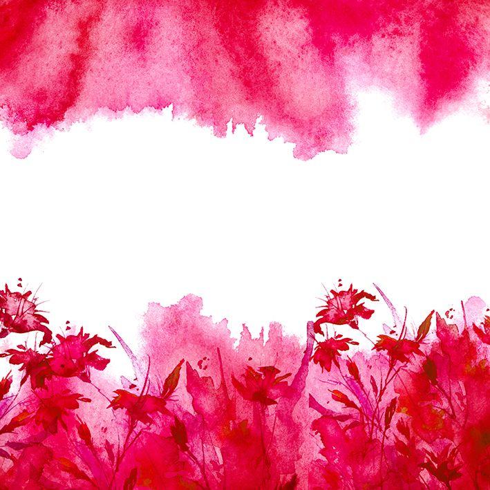 baskılı fon perde üstten ve alttan oluşan kırmızı dalgalı çiçekler desenli