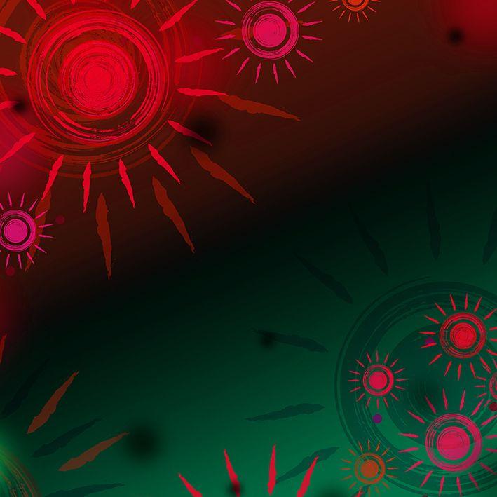 baskılı fon perde yağlı boya etkili kırmızı güneş desenli