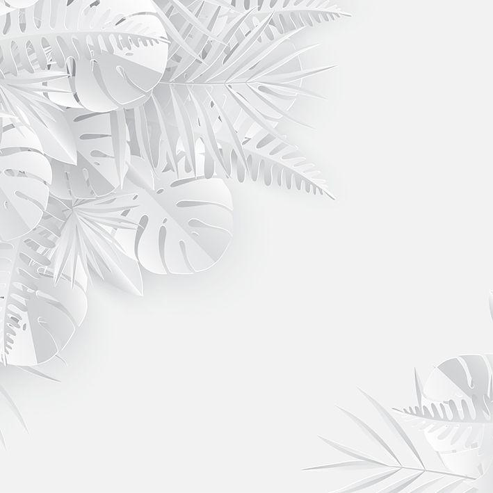 baskılı fon perde yaz tropikal palmiye yaprak desenli