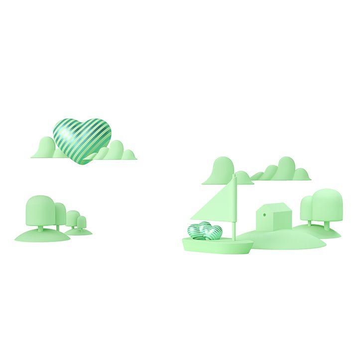 baskılı fon perde yeşil renkli küçük kapli desenli