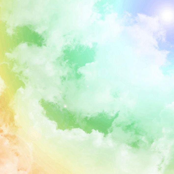 baskılı fon perde yeşil, sarı ve mor etkili ışıltı desenli