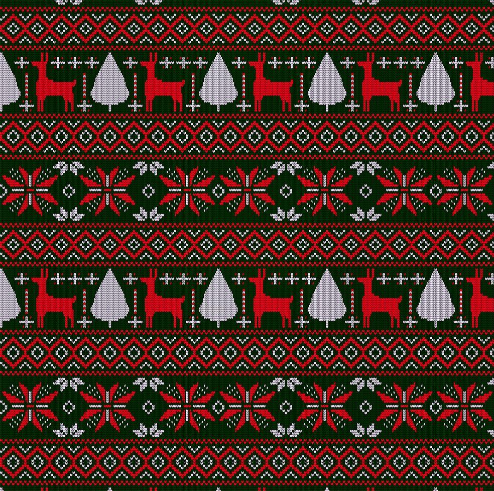 baskılı fon perde yılbaşı noel küçük örgülü yeşil üzerine kırmızı beyaz