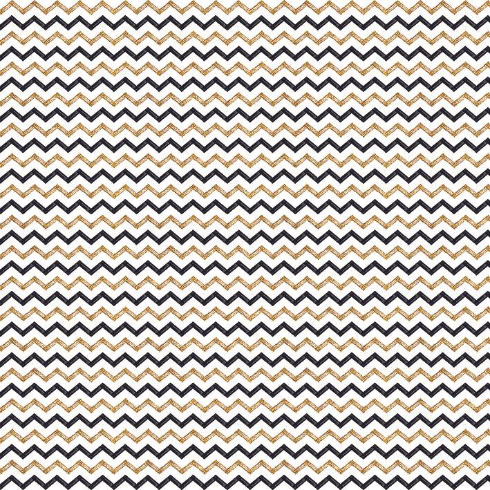 baskılı fon perde zigzag siyah altın çizgili dekoratif